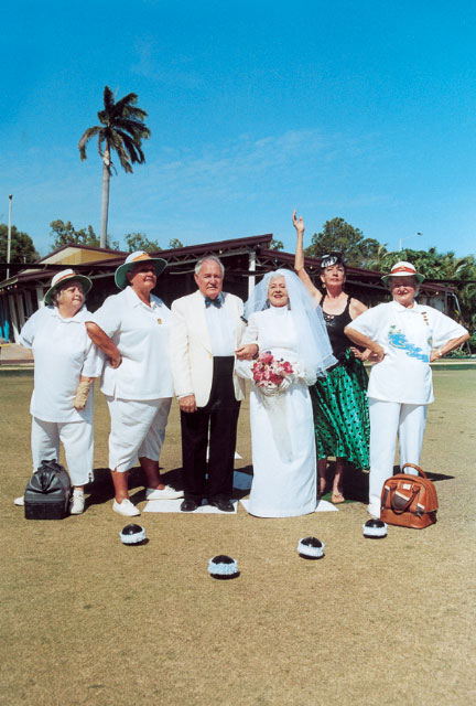 A Bowls Club Wedding (Can Team Rivalry be put aside for love?). Photo: Mark Marcelis