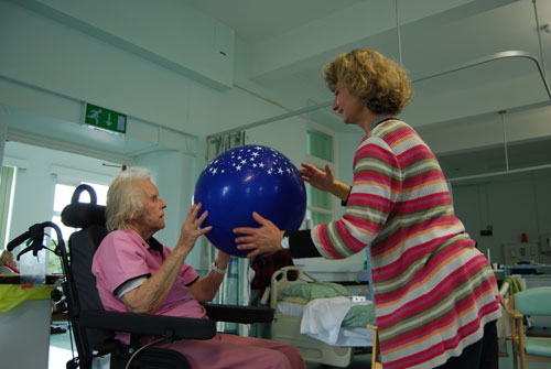 Participant with Caroline Schanche, Arts for Stroke Rehabilitation dance session. Photo: Jenny Atkin