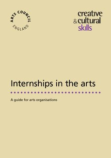 Internships in the Arts Cover