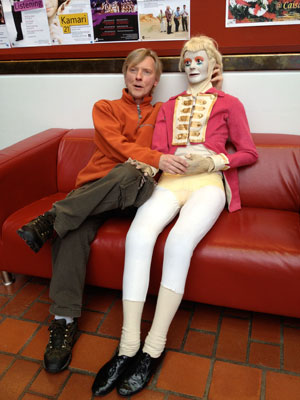Donald and Pamela. Pamela performs in Jyrki Karttunen's Bad Body Doubles. Photo: Sara Nyberg
