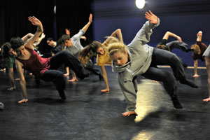 First U.Dance Ensemble residential rehearsal in Glasgow, Photo: Brian Slater.