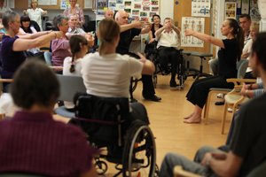 Rambert project with amputee group, St George's NHS Trust. Photos: © Ellie Kurttz