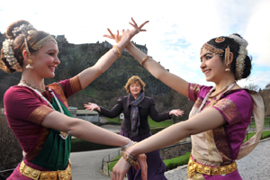Dance Ihayami and Fiona Hyslop, Commonwealth Ceilidh Launch. Photo: Rob McDougall