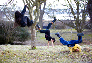 Participants, Dundee Woodland performance, Hansel & Gretel, and Me. Photo: Andrew Ross