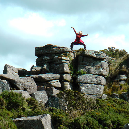 Caroline Thompson in Denise Rowe's She Who Walks, Dartmoor National Park. Photo: Denise Rowe