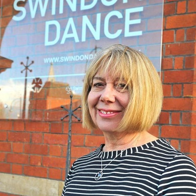 Marie McCluskey OBE outside Swindon Dance, Photo: Dave Cox