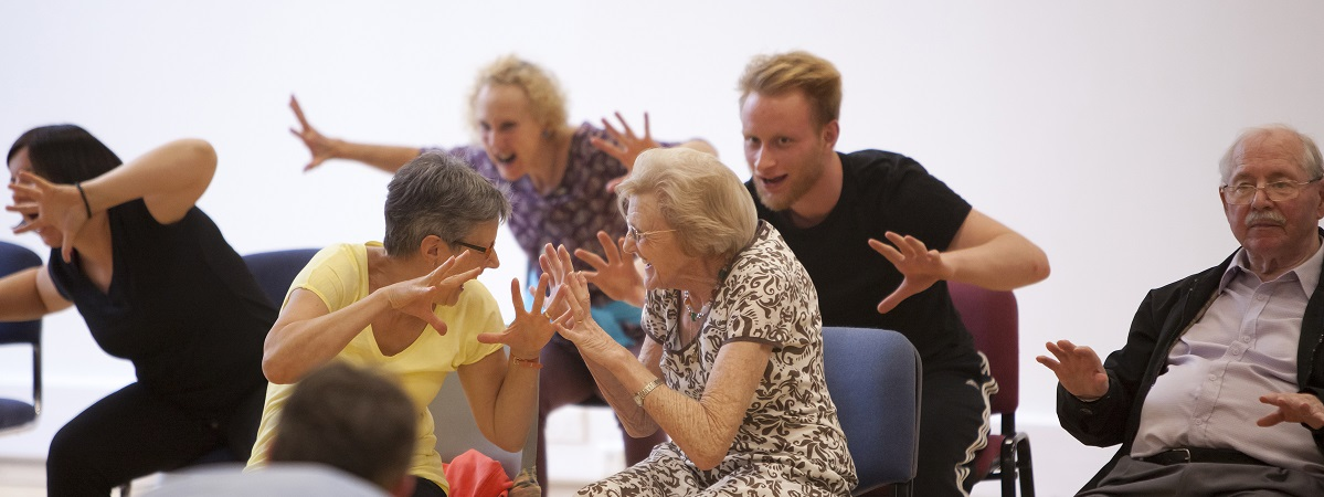 Photo: Introduction to Dance for Parkinson's, Summer School 2016 credit: Rachel Cherry