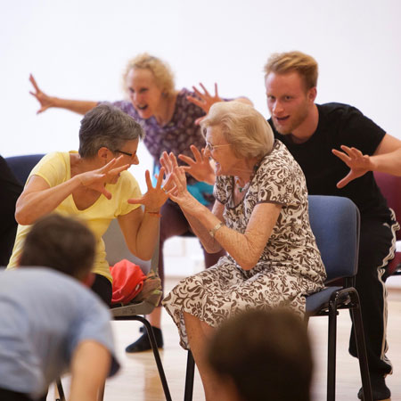 Introduction to Dance for Parkinson's, Summer School 2016. Photo: Rachel Cherry