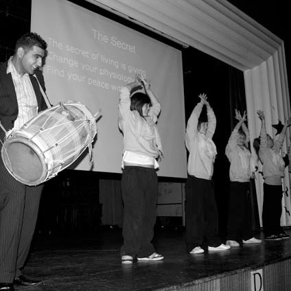 Students at Mitchell High School, Stoke on Trent. Photo: School staff member