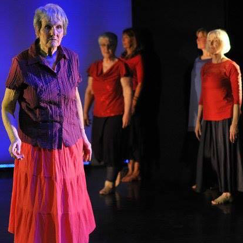 Eileen Burrows with the Growing Older Dis(Gracefully) Dance company
