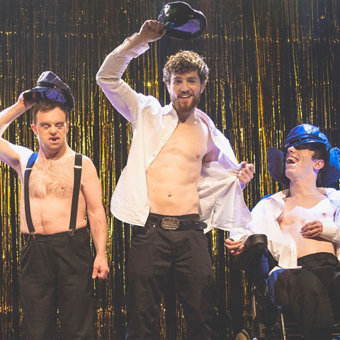 A version of The Full Monty reimagined. Photo: Sean Goldthorpe