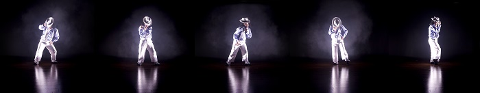 Moonwalker, photograph by Sean Goldthorpe, 11 Million Reasons to Dance